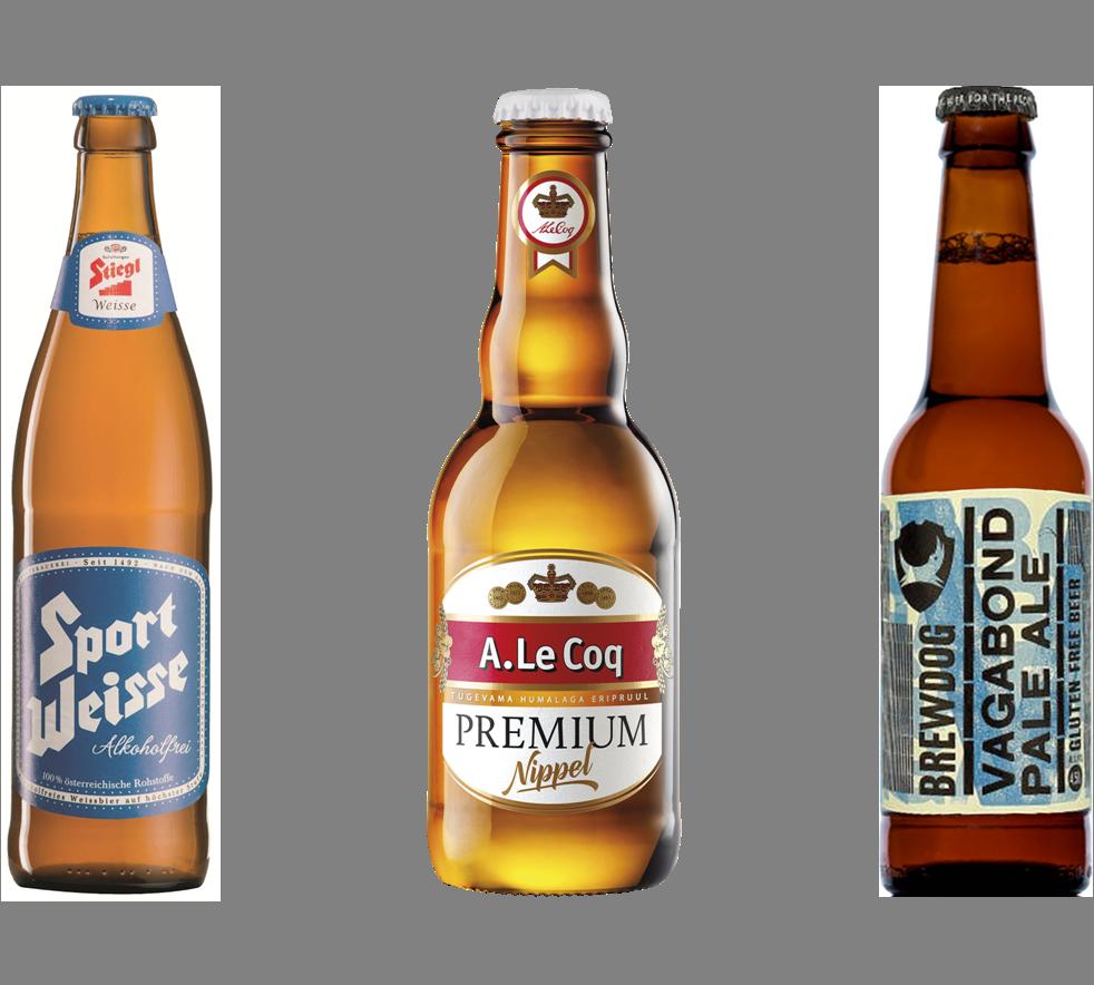 בירות מיוחדות - בירה ללא גלוטן, בירה ללא אלכוהול