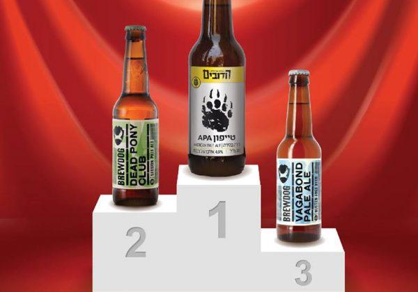 הזוכים בתחרות Golden Beer
